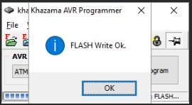 KhazamaAVRProgrammer прошивка завершена