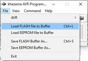 KhazamaAVRProgrammer загрузка файла прошивки