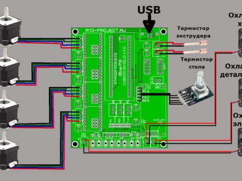 Как подключить 3D принтер к плате управления