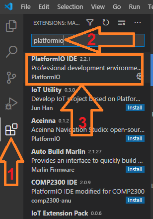 Установка Platformio