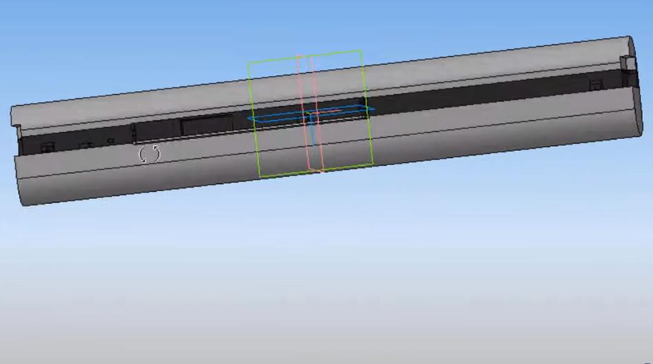 3Д модель корпуса аккумулятора ноутбука